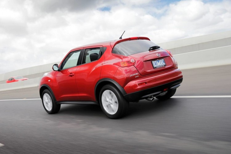 The rear of the Nissan Juke is just as bold as the front.