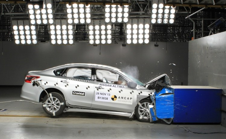 The Nissan Altima is one of nine cars to have received a five-star ANCAP crash safety rating.