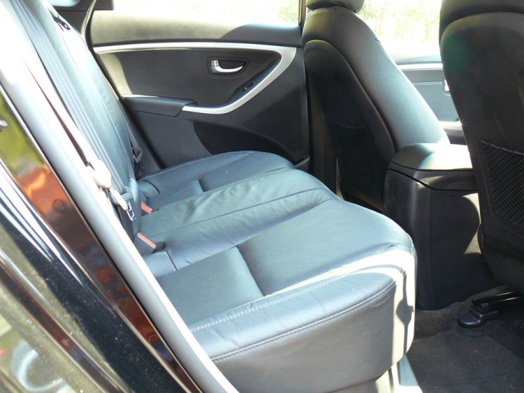 The back seats in the i30 SR are fine for three kids or two adults.