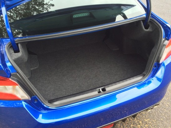 The WRX's boot offers 460 litres of storage space