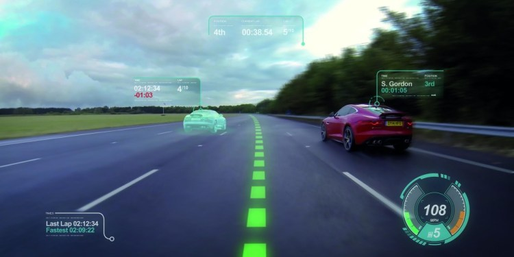 Jaguar Land Rover develops virtual windscreen to reduce driver distraction