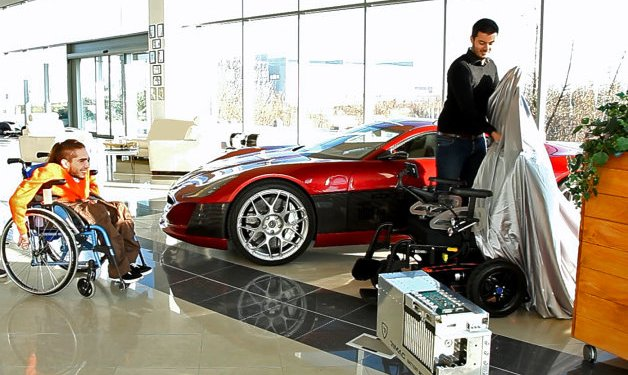 wheelchair users gets a bespoke Rimac battery system