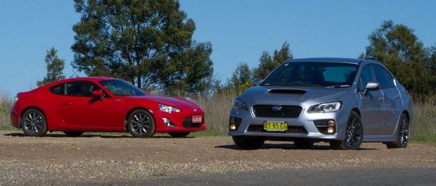 For fun : Subaru WRX vs Toyota 86 | Practical Motoring