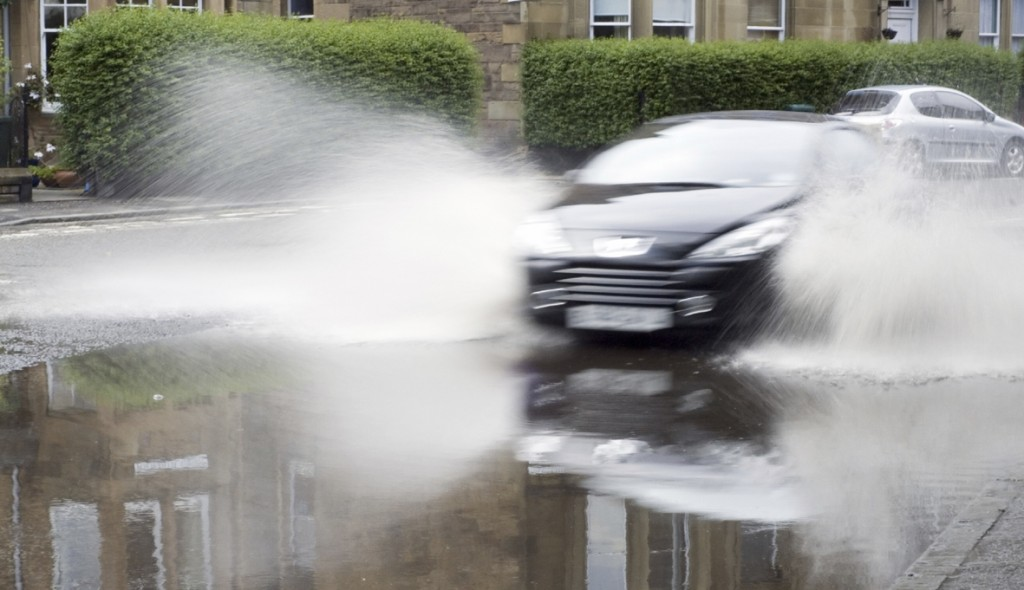 car aquaplaning