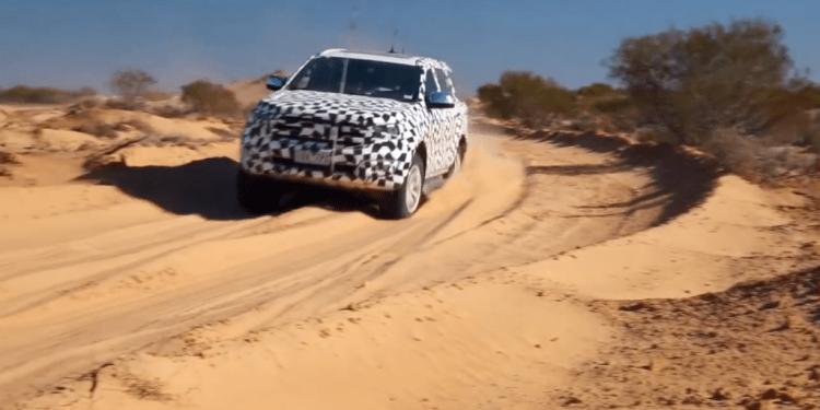 2015 Ford Everest testing