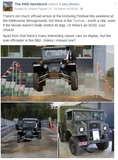 The Blitz also made it onto our 4WD Facebook page.