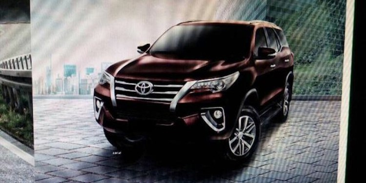Official images of the 2016 Toyota Fortuner leaked