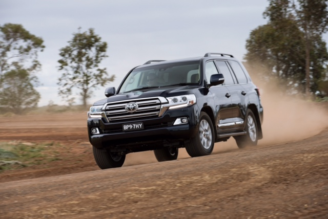 Updated LandCruiser 200 Series due in October. (Pre-production Sahara model shown).