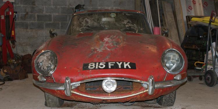 Jaguar E-Type barn find