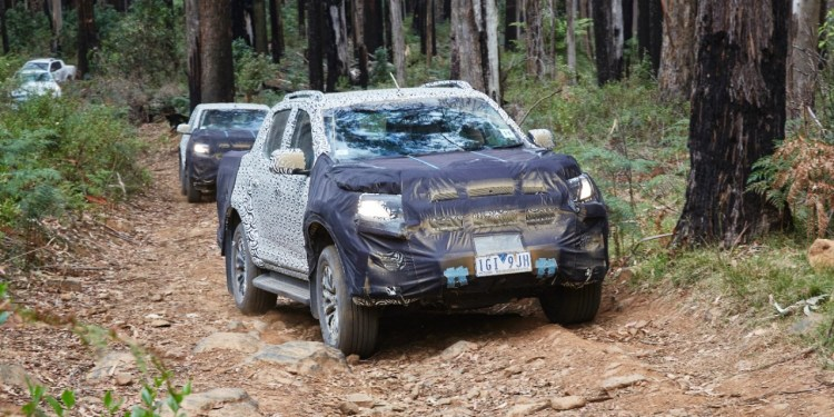 2017 Holden Colorado testing in Australia