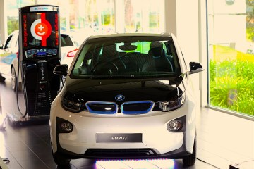 """BMW Supports Charge Net NZ to connect New Zealand on """"Electric Hughway. The event at BMW New Zealand - with speeches from BMW NZ Managing Director Florian Rennorder, CEO of Charge Net Steve West and Minister Hon Simon Bridges. Mandatory Photo Credit ©Michael Bradley."""