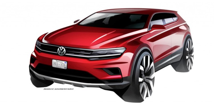 Volkswagen has released design drawings of its longer, seven-seat Tiguan Allspace which will be revealed at the Detroit Motor Show in January.