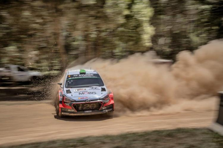 Hyundai i20 WRC and Jane Speechley