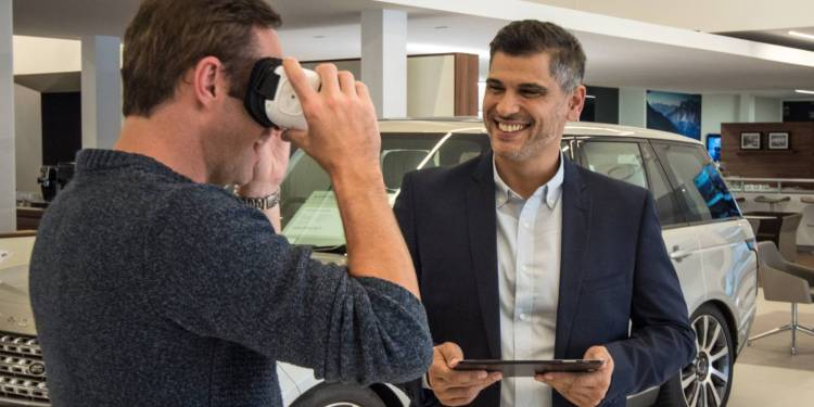 Jaguar Land Rover offers virtual reality car buying