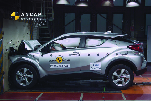 Toyota C-HR scores 5 star ANCAP rating