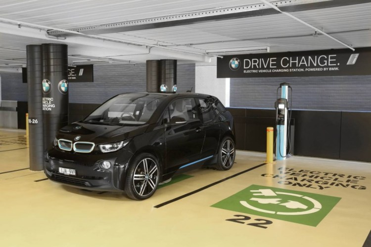 BMW announces electric vehicle charging stations at Westfield