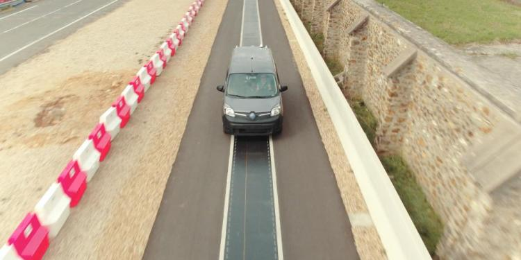 Renault has demonstrated wireless electric vehicle charging that allows a vehicle to be charged while driving on the road.