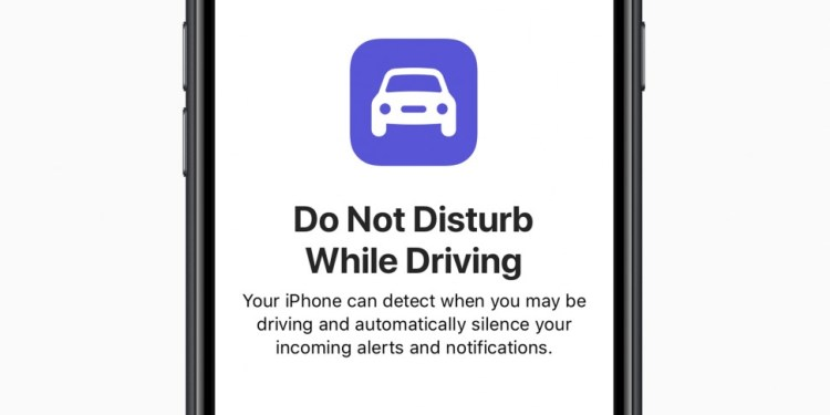 do not disturb while driving Apple