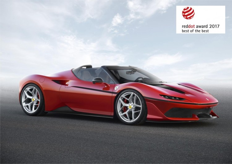 """For the third year running, Ferrari has won the Red Dot: Best of the Best award for the """"maximum expression of design quality and ground-breaking design""""."""