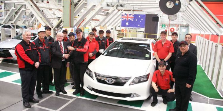 Last Toyota Aurion leaves the factory