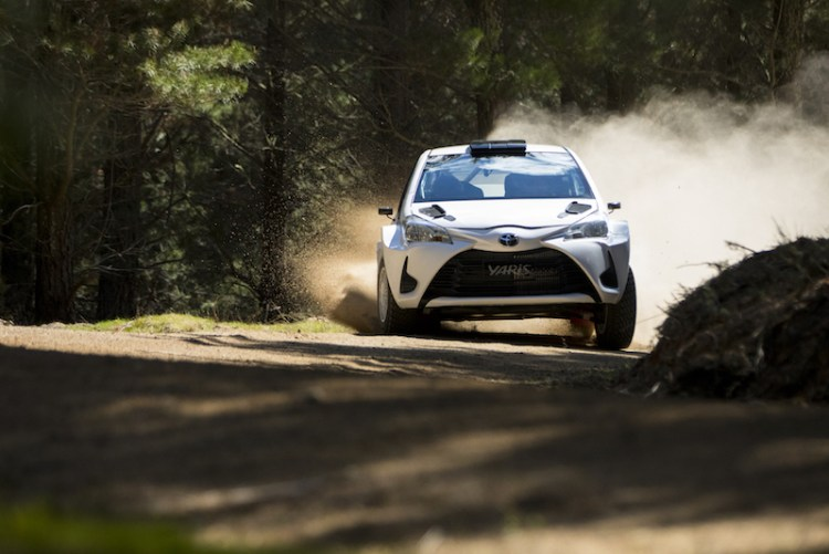 Toyota Yaris at the Rally SA