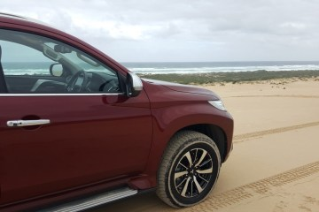The Pajero is at home on sand