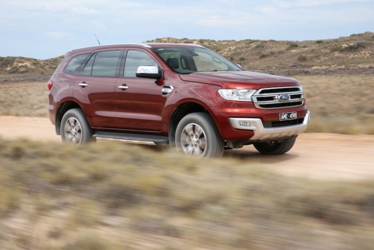 Ford Everest 4WD driving on unsealed road