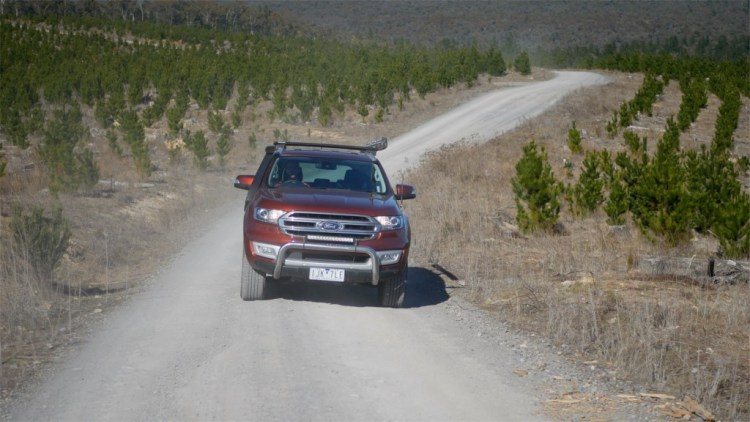 Ford Everest 4WD driving along a road