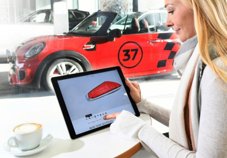 Mini is allowing customers in the UK to personalise their vehicles via 3D printing, customising the dashboard, door sills and even the door projectors.