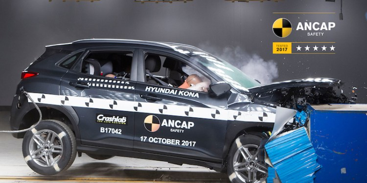 Both the Hyundai Kona and Holden Equinox scored five start ANCAP ratings in score released today, with the MG ZS falling short.
