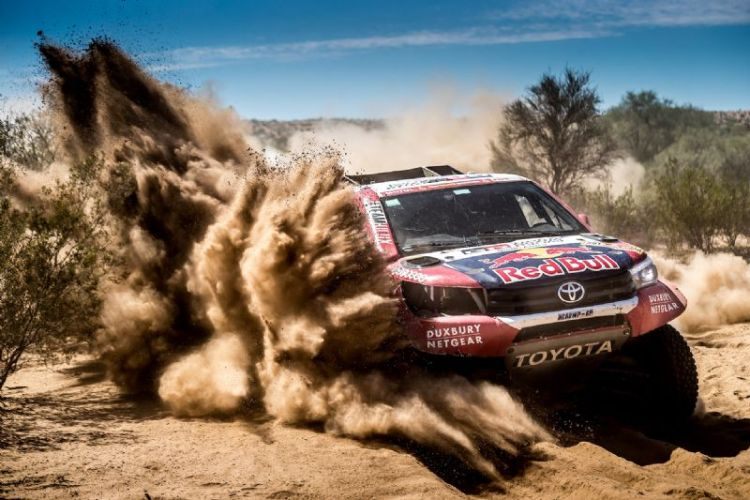 The Toyota HiLux finished Dakar 2018 with a second and third in the car class… just behind the swansong of Carlos Sainz and Peugeot.