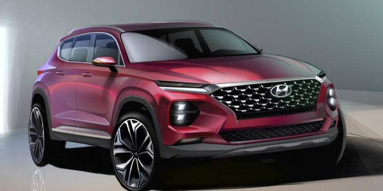 After teasing a gloomy looking profile of the new Hyundai Santa Fe, Hyundai has gone backwards and teased renderings of its new medium SUV.