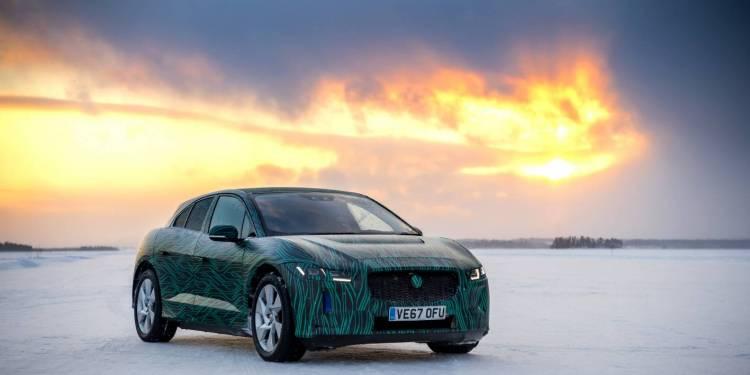 Jaguar I-Pace drifting on ice