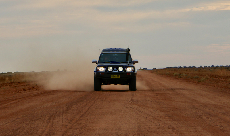 On rougher gravel roads or tracks you'll need to drop pressures