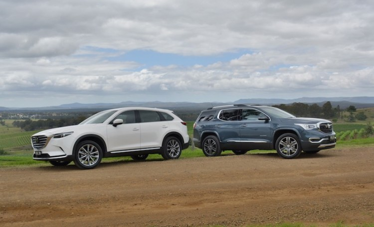 Holden Acadia Vs Mazda CX-9