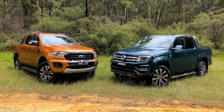 2019 Ford Ranger Wildtrak bi-turbo vs Volkswagen Amarok V6 580