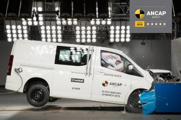 Following its dismal 1-star EuroNCAP rating, the Jeep Wrangler has realised a 1-star ANCAP rating while the new Toyota HiAce has scored a 5-star rating.