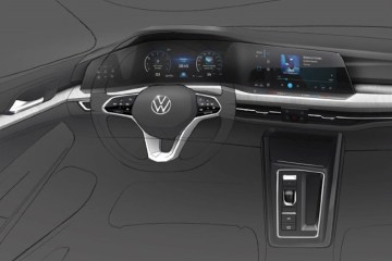 new Golf's digital dashboard