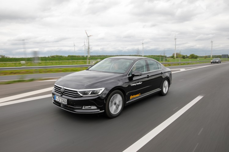 Tyre testing with Continental Cruising Chauffeur autonomous vehicle