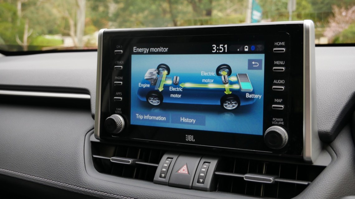 Toyota Rav4 Hybrid infotainment