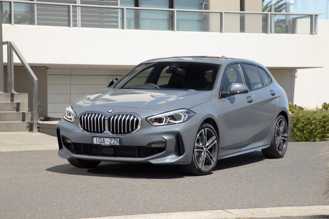2020 BMW 118i front parked