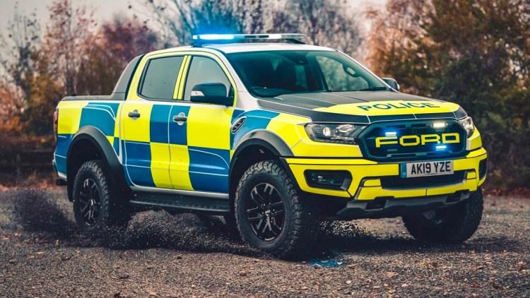 Ford Ranger Raptor police car ute