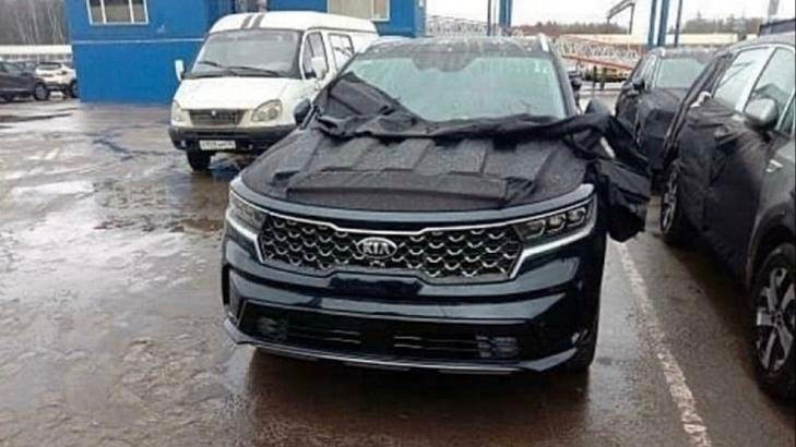Kia Sorrento fourth gen spy photos leak new 2021