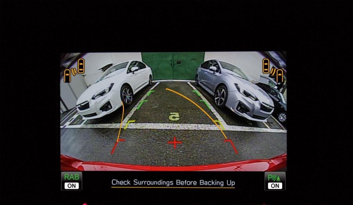 MY20 Subaru Impreza Rear View Camera.