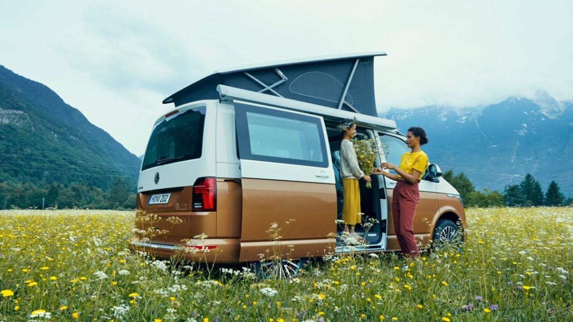 VW Kombi California Beach Australia field camping