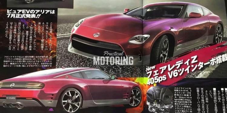 Japan magazine Nissan 400Z specs rendering