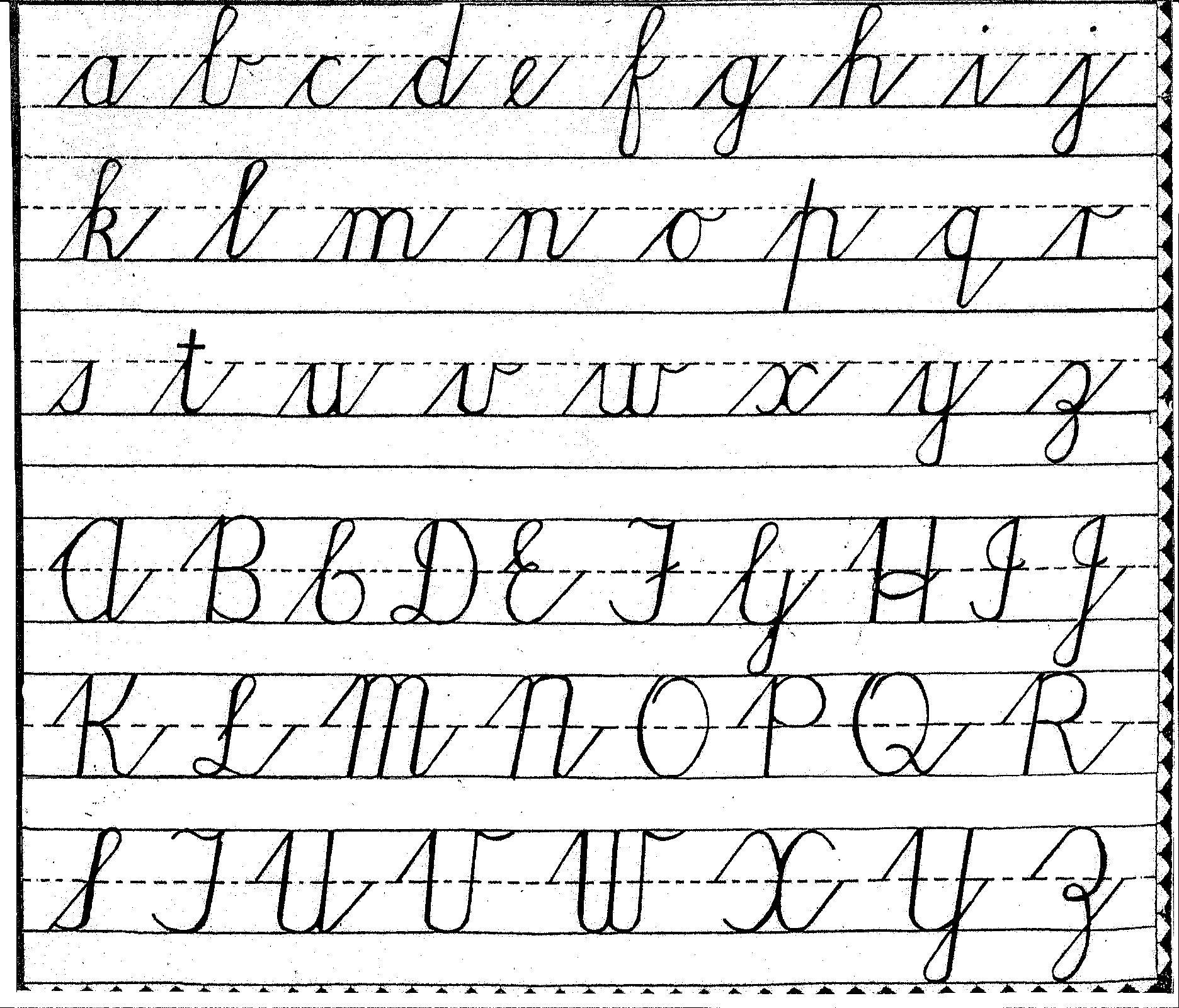 Handwriting Cursive Lower Amp Upper