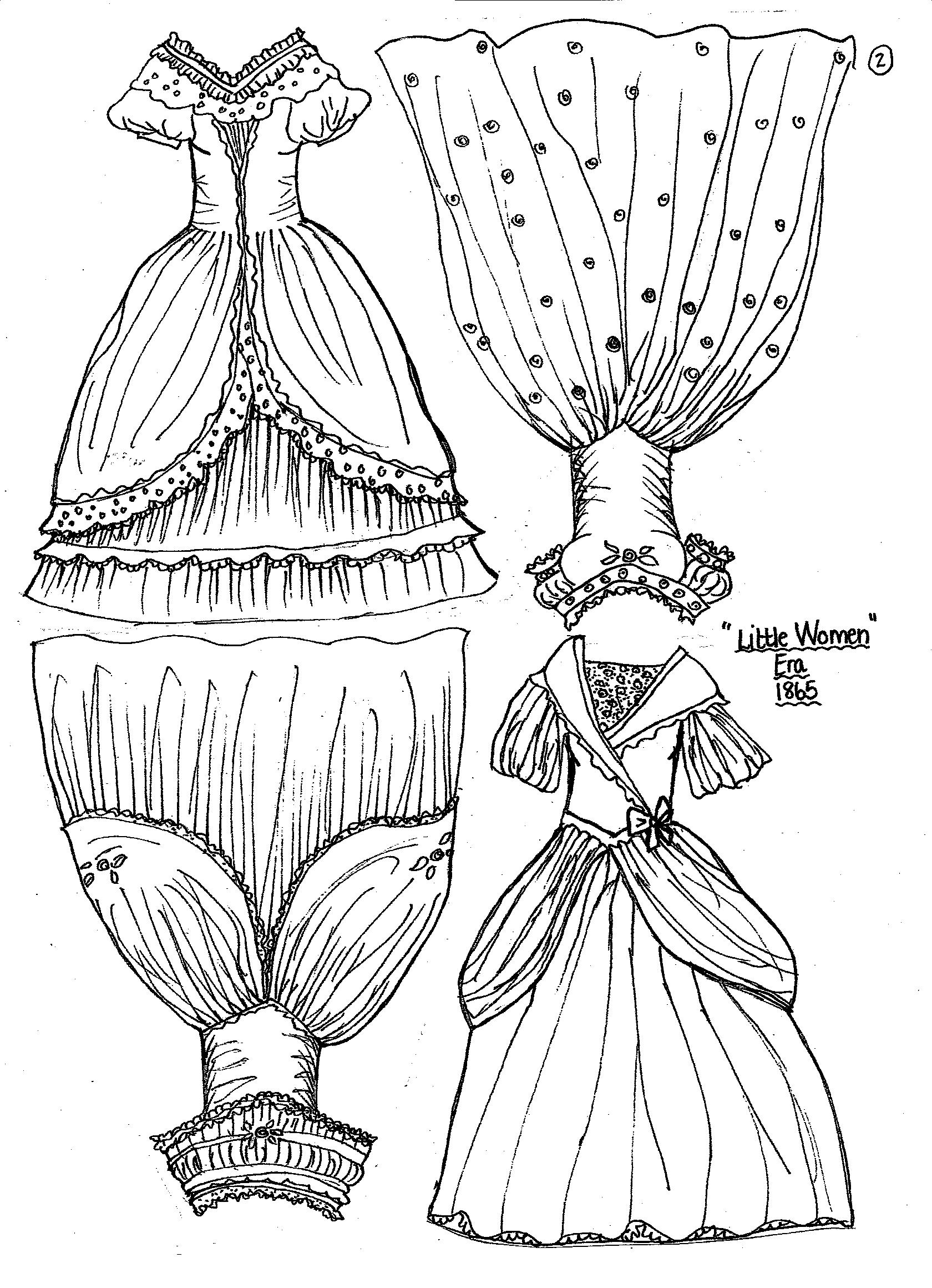 Old Fashion Dolls Coloring Pages Coloring Pages