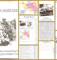 World War I Minibooks and Notebook Pages   Practical Pages [ 3200 x 5120 Pixel ]