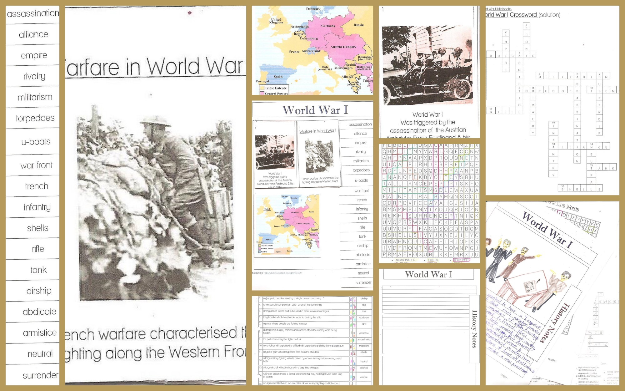 hight resolution of World War I Minibooks and Notebook Pages   Practical Pages